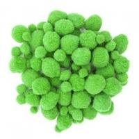 LITTLE POM POMS ASSTD GREEN 100 PC - Click for more info