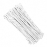 LITTLE CHENILLE STICKS WHITE 300 X 6mm 100 PC - Click for more info