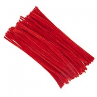 LITTLE CHENILLE STICKS RED 300 X 6mm 100 PC - Click for more info