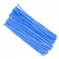 LITTLE CHENILLE STICKS BLUE 300 X 6mm 100 PC - Click for more info