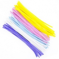 LITTLE CHENILLE STICKS PASTEL 300 X 6MM 100 PC - Click for more info