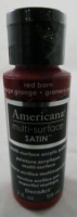 DECOART AMERICANA MULTISURFACE SATIN RED BARN 59mL # - Click for more info