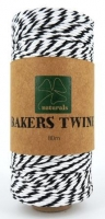 BAKERS TWINE BLACK/WHITE 80M SPOOL # - Click for more info