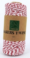 BAKERS TWINE RED/WHITE 80M SPOOL # - Click for more info