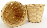 BASKET BAMBOO ROUND NATURAL 4 PC - Click for more info