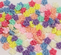 BEADS PLASTIC FLOWER BUDS 150 GM - Click for more info