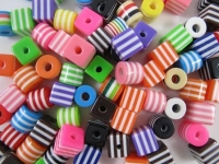 BEADS PLASTIC CUBE/CYLINDER 100 GM - Click for more info
