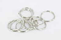 SPLIT RINGS SILVER 20MM 10 PC - Click for more info