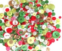 BUTTONS PLASTIC XMAS 500 GM - Click for more info