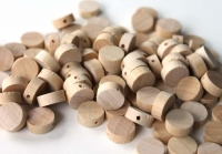 BEADS WOODEN RAW FLAT ROUND 100 PC/PKT* - Click for more info