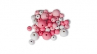 LITTLE LEARNER WOOD BEADS PINK -WHITE 180 PC - Click for more info