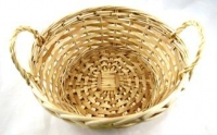 BASKET CANE ROUND W/SIDE HANDLES # - Click for more info