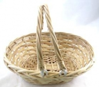 BASKET CANE OVAL W/MOVEABLE CENTER HANDLES # - Click for more info