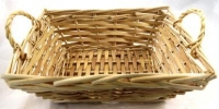 BASKET CANE RECT W/SIDE HANDLES # - Click for more info