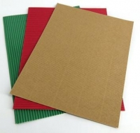 CORRUGATED CARD XMAS 19 x 26cm 12 SHEETS* - Click for more info