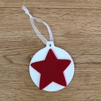CERAMIC HANGING BAUBLE 6 PC - Click for more info