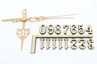 CLOCK HANDS/NUMBERS COMBO (#946/15mm) GOLD 1 SET # - Click for more info