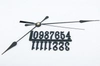 CLOCK HANDS/NUMBERS COMBO (#2080/20mm) BLACK 1 SET # - Click for more info