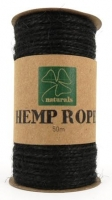 HEMP ROPE BLACK 50M SPOOL # - Click for more info