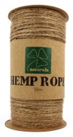 HEMP ROPE NATURAL 50M SPOOL # - Click for more info