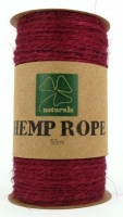 HEMP ROPE RED 50m SPOOL - Click for more info