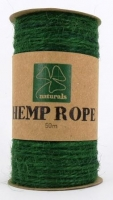 HEMP ROPE GREEN 50M SPOOL - Click for more info