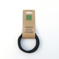 Wired Jute Twine 3mmx2m Black # - Click for more info