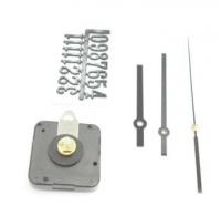 CLOCK COMBO KIT (HANDS/NUMBERS/MOVEMENT) #2094+ #A27 BLACK # - Click for more info
