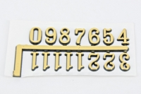 CLOCK NUMBERS ARABIC GOLD 15mm 1 SET - Click for more info