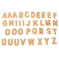LITTLE CORK LETTERS UPPERCASE 36 PC ^ - Click for more info