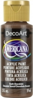 DECOART AMERICANA ACRYLIC DARK CHOCOLATE 59mL - Click for more info