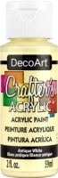 DECOART CRAFTERS ACRYLIC ANTIQUE WHITE PAINT 59mL - Click for more info