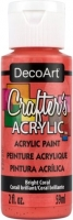DECOART CRAFTERS ACRYLIC BRIGHT CORAL PAINT 59mL - Click for more info