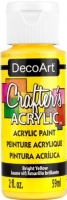 DECOART CRAFTERS ACRYLIC BRIGHT YELLOW PAINT 59mL - Click for more info