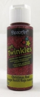 DECOART CRAFT TWINKLES CHRISTMAS RED 59mL # - Click for more info