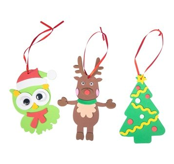 FOAM CHRISTMAS DECORATION KIT (MAKES 12) - Click for more info