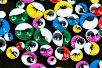 EYES JOGGLE W/LASH MULTI ASSTD ADH 100 PC - Click for more info
