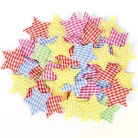 LITTLE FABRIC SHAPE STAR 50 PC ^ - Click for more info