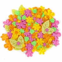 LITTLE PUFFY SHAPES FLOWER/LEAF 105 PC ^ - Click for more info