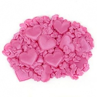 LITTLE PUFFY SHAPES HEARTS PINK 120 PC ^ - Click for more info