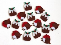 FELT STICKERS PUDDING / ROBIN 16 PC - Click for more info