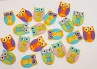 FELT STICKERS OWLS 20 PC* - Click for more info