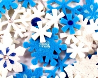 FELT STICKERS XMAS SNOWFLAKES 60 PC - Click for more info