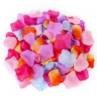 LITTLE FABRIC FLOWER PETALS 150 PC - Click for more info
