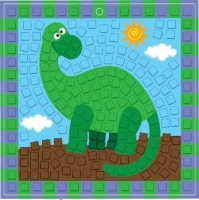 FOAM MOSAIC KIT DINOSAUR - MAKES 10* - Click for more info