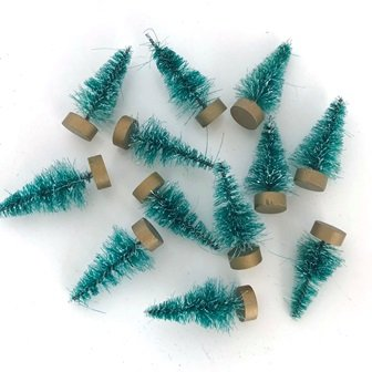 MINI FROSTED TREE ORNAMENTS 4CM 24 PC - Click for more info