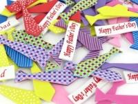 FOAM FATHERS DAY TIE STICKERS 72PC/PKT - Click for more info