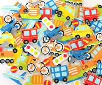 FOAM STICKERS TRANSPORT 60 PC - Click for more info