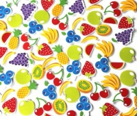 FOAM STICKERS FRUIT 90 PC - Click for more info