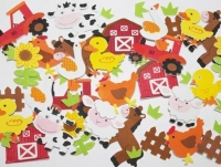 FOAM STICKERS FARM 60 PC - Click for more info